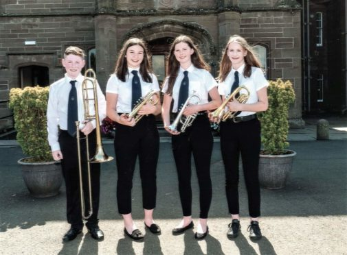 Vinnie Brown, Victoria Scott, Lauren Adams and Molly Crompton played at the NYBBS concert last summer