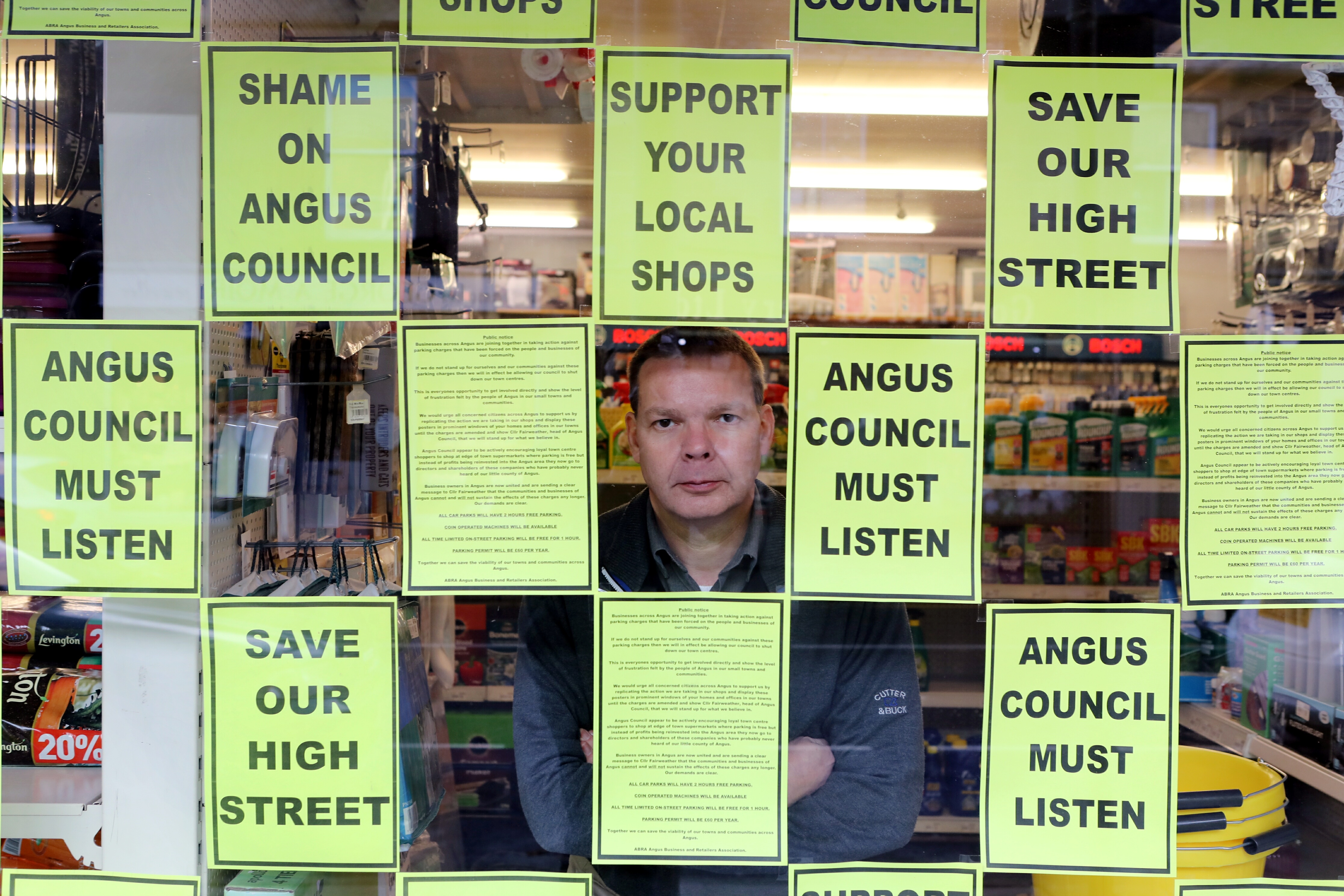 Angus parking charges: Survey reveals takings down and jobs lost