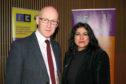 Jasvinder Sanghera with deputy first minister John Swinney.