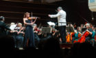 Nicola Benedetti on stage and conductor Robert Dick.