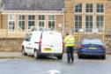Police near Invergowrie Primary School.
