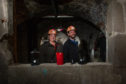 Louise Murphy and Stewart Heaton from DD Tours during one of the first-ever tours of the vaults