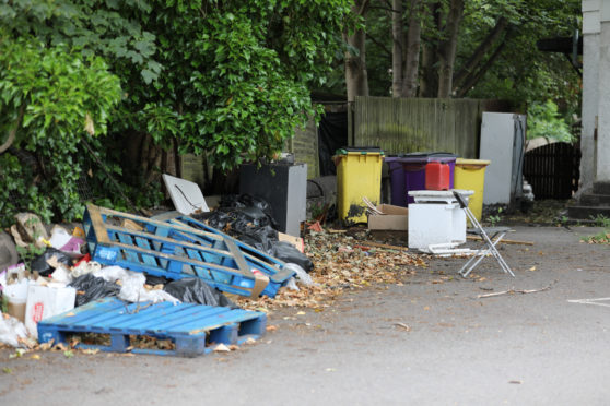 Fly tipping is on the rise in Dundee