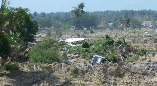 Landslide at the village of Petobo in Indonesia