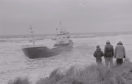 The coaster, Fendyke, aground in Carnoustie Bay.
