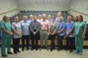 The orthopaedic team with Mr Sullivan