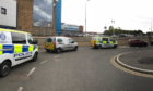 The scene outside Kirkcaldy's Victoria Hospital recently.