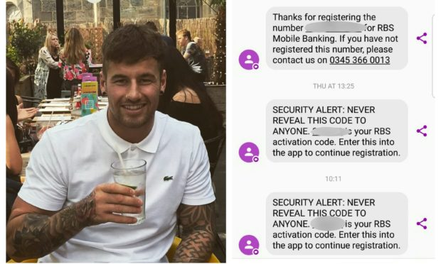 Rhys Tapley was ripped off after a scammer mirrored the Royal Bank of Scotland's general inquiries line.