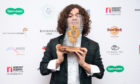 Kyle Falconer at the SSE Scottish Music Awards.