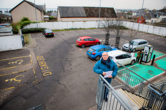 Carnoustie Independent councillor David Cheape launched a parking charges survey in early December