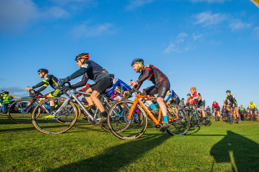 The cyclocross gets under way in Montrose.