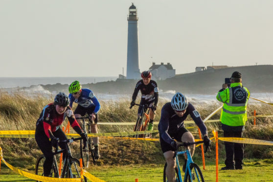 Competitors in the Cyclocross events at Montrose.