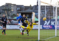 The ball ends up in Dundee's net after just 35 seconds.