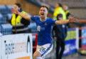 Liam Craig celebrates after making it 2-0 to Saints.