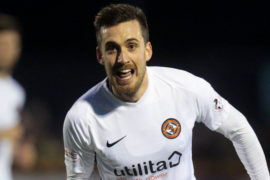 Callum Booth celebrates his goal from the last time United played Alloa.
