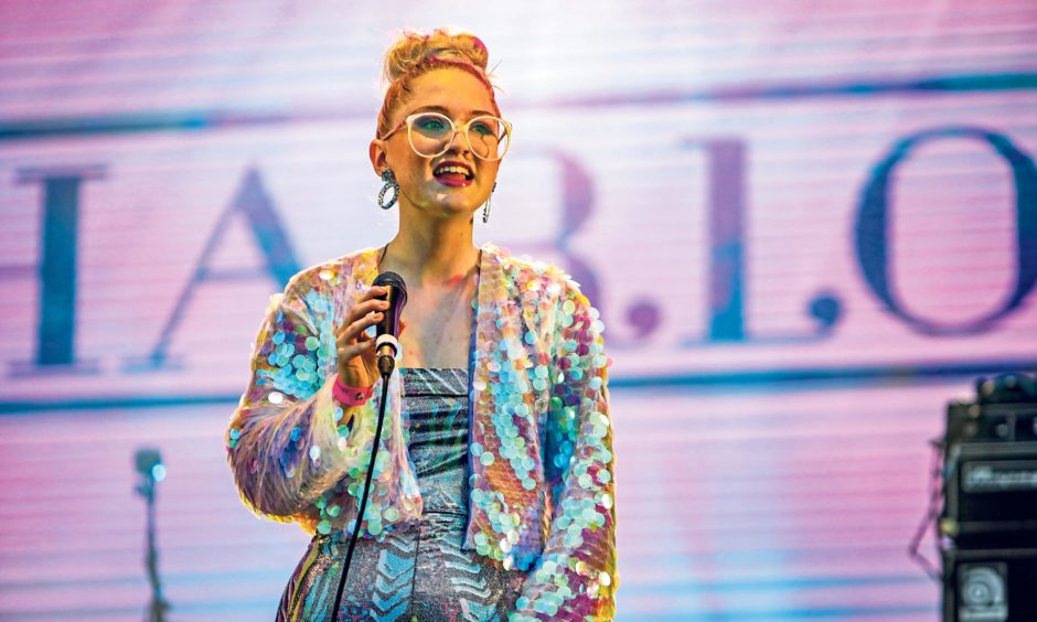 Be Charlotte on stage at the 3D Festival in Slessor Gardens. Steven Brown/DCT Media