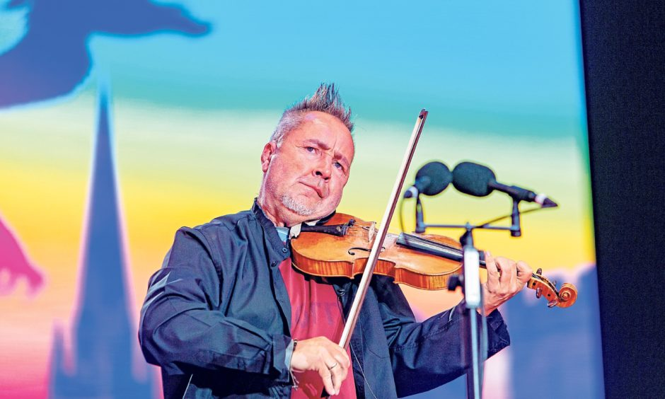 Nigel Kennedy brought a touch of class to the BBC Biggest Weekend. Steven Brown/DCT Media
