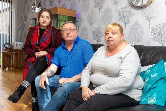 Brian and Shona Anderson and daughter Shannon face losing their Glenrothes home