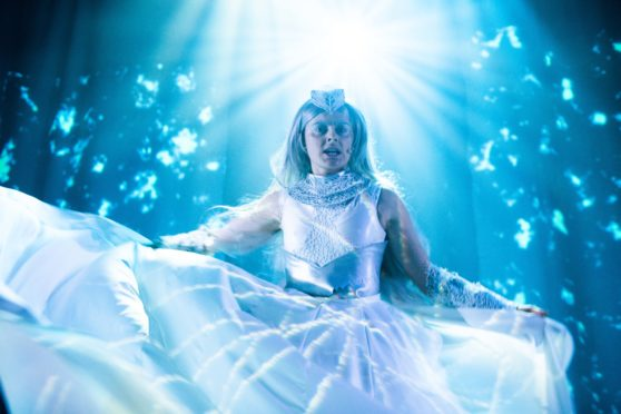 Sophie Reid as the Snow Queen.  Photo: Tommy Ga-Ken Wan