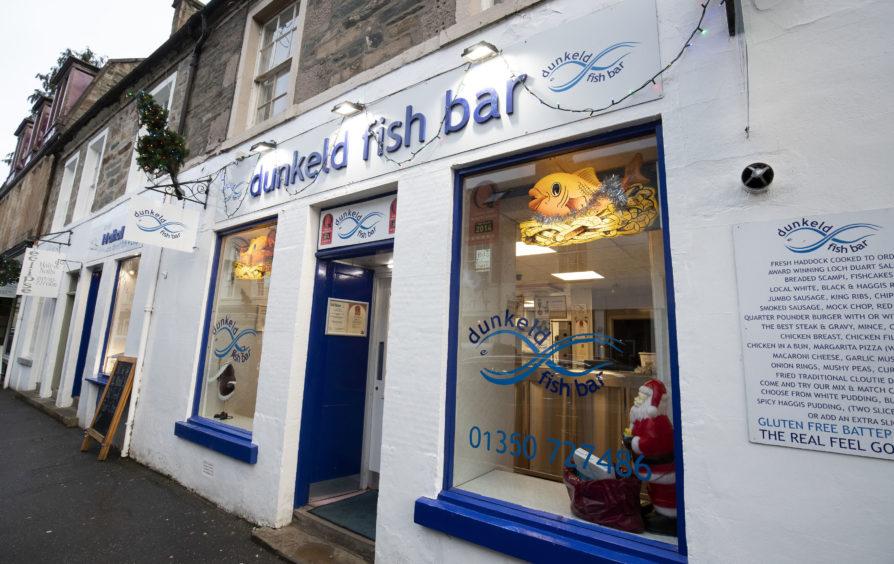 The Dunkeld Fish Bar in Dunkeld, Perthshire.