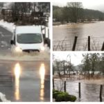 VIDEO: School and roads closed as Perthshire river bursts its banks, causing severe flooding