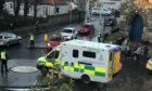 Emergency services at the scene in St Andrews.