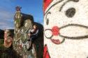 bale artist Fleur Baxter unveils her Christmas artwork