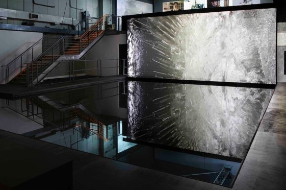 The Out of Ice installation by artists Elizabeth Ogilvie and Rob Page, held in London.