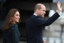 Prince William and Kate Middleton arrive at V&A Dundee.