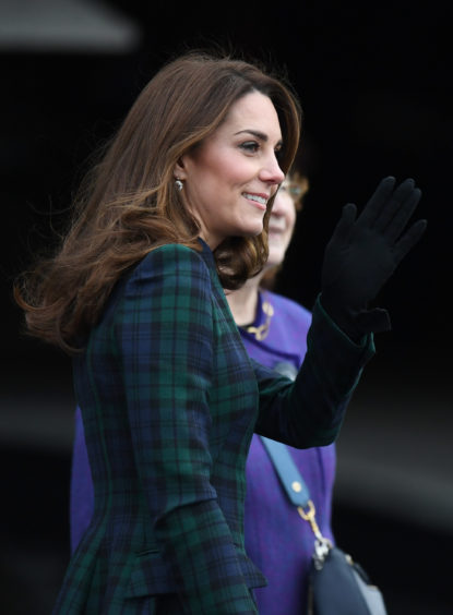 Catherine, Duchess of Cambridge arrives to officially open V&A Dundee. Jeff J Mitchell/Getty Images