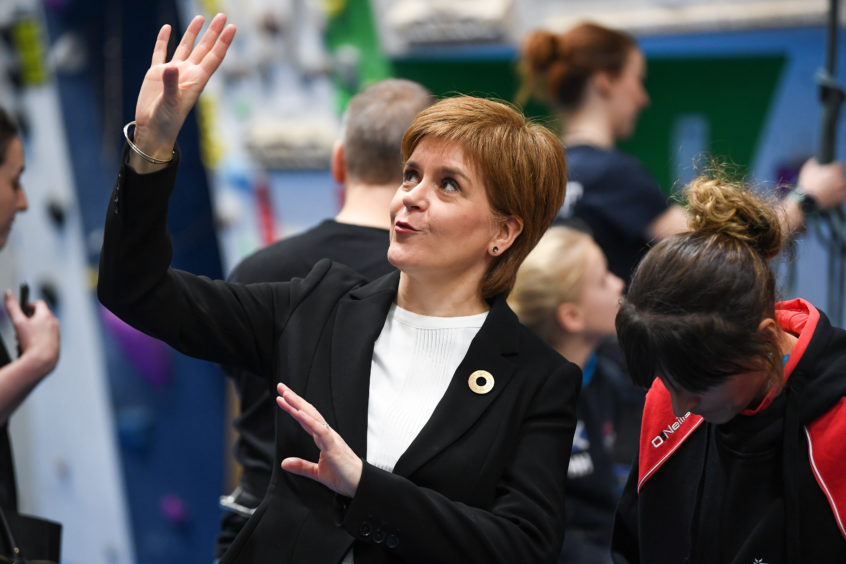 First Minister Nicola Sturgeon announces an extra £50 million of investment in the Tay Cities region by the Scottish Government, during a visit to The Academy of Sport and Wellbeing, Perth College.