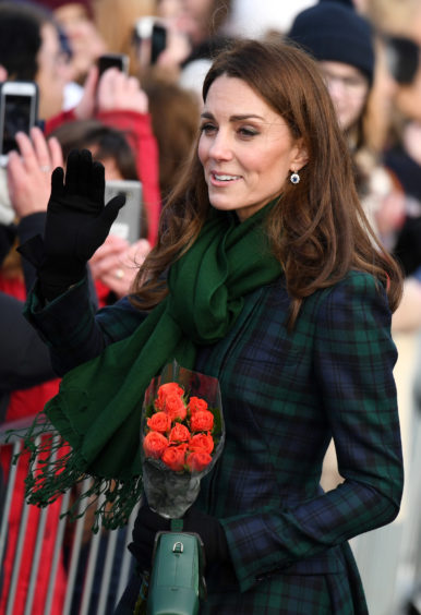 Kate leaves after the official opening of V&A Dundee. Jeff J Mitchell/Getty Images