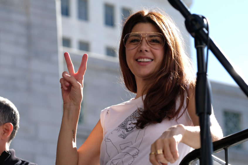 Actress Marisa Tomei participates in the Women's March California 2019.