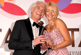 Philip Schofield and Holly Willoughby with the award for Best Daytime TV programme for This Morning.