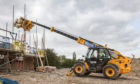 A telehandler from Morris Leslie in action