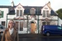 SNP MSP Shirley-Anne Somerville at a well known derelict hotel in Halbeath