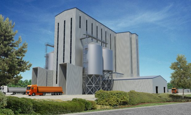 A graphic of how the new mill would look at the Port of Rosyth.
