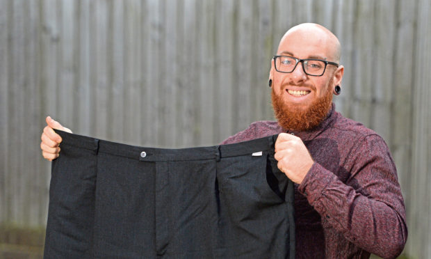 Iain McLeod, 32, from Dundee, has lost 12 stone 4 pounds.