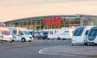 Perthshire Caravans headquarters in Errol. Picture: Steve MacDougall.