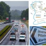 Huge 48-mile diversion comes into force due to overnight closures of A9 in Perthshire