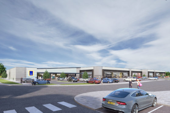 A 3D image of the proposed retail park.