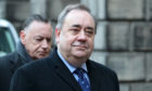 Alex Salmond arriving with advisor Campbell Gunn (left) at the Court of Session in Edinburgh.