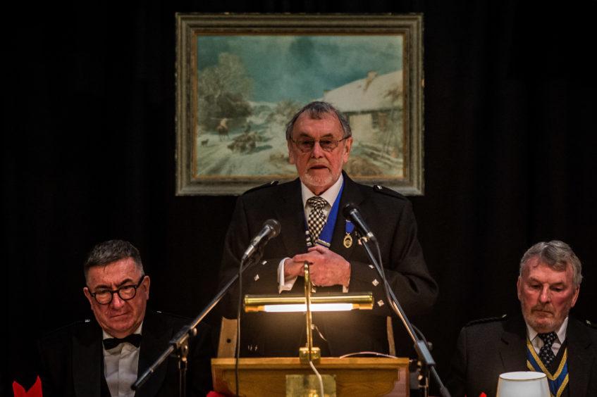 Cupar Burns Club President Keith McIntosh