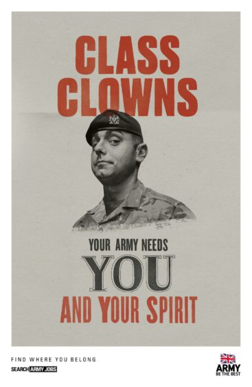 Posters from the latest recruitment campaign unveiled by the British Army (MoD/Crown Copyright)