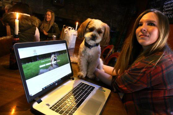 Katie McCandless Thomas with her Lhasa Apso, Baxter.