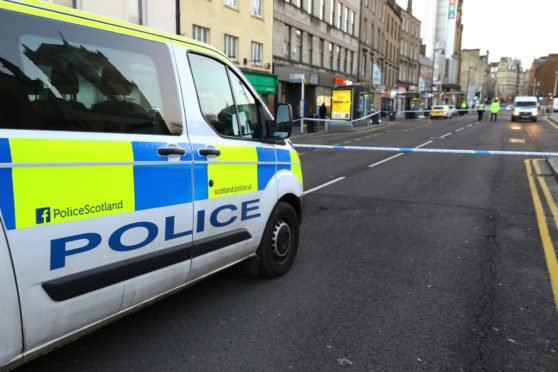 Police activity on the Nethergate after the fatal incident.