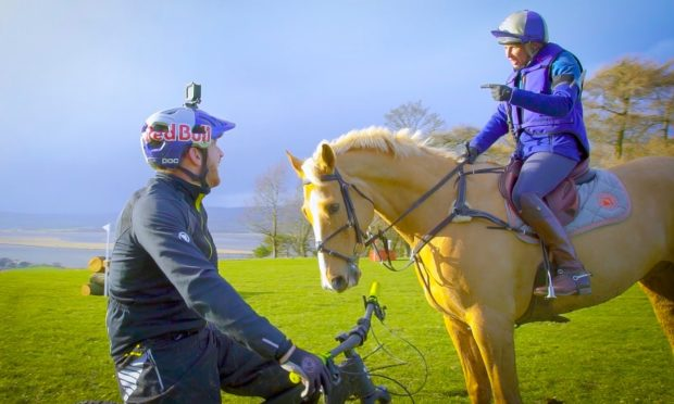 Danny MacAskill with Louisa Milne Home and her horse Future Plans