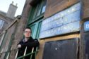 Braden Davy at Brechin Railway Station, is making a bid to bring back Beeching railways.