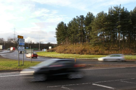 The development would be close to the Broxden roundabout