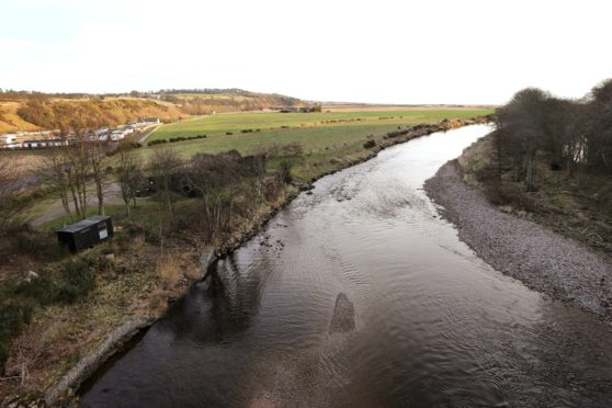 The River North Esk looking towards its mouth north of Montrose